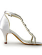 Dla kobiet Satin Szpilki Sandały Z Klamra Rhinestone (047005860)
