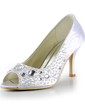 Women's Satin Stiletto Heel Peep Toe Sandals With Beading Rhinestone (047015279)