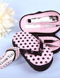 Stainless Steel Manicure Kit With Pink Polka Dot Flip Flop Case (051009899)