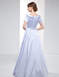 A-Line/Princess Off-the-Shoulder Floor-Length Charmeuse Evening Dress With Ruffle (017022531)