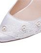 Kadın Satin İnce Topuk Kapalı Toe Pompalar Ile İmitasyon İnci Çiçek (047056254)