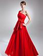 Linia A/Księżniczka Jednoramienna Do Podłogi Chiffon Charmeuse Suknia dla Mamy Panny Młodej (008015655)