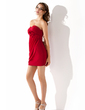 Sheath/Column Sweetheart Short/Mini Chiffon Homecoming Dress With Ruffle Flower(s) (022010588)