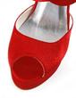 Women's Satin Stiletto Heel Peep Toe Platform Sandals With Zipper (047018205)