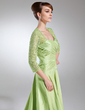 A-Line/Princess Sweetheart Sweep Train Taffeta Lace Mother of the Bride Dress With Ruffle (008005950)