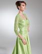 Çan/Prenses Kalp Kesimli Kuyruklu Taffeta Lace Gelin Annesi Elbisesi Ile Büzgü (008005950)