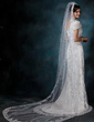 One-tier Chapel Bridal Veils With Lace Applique Edge (006020540)