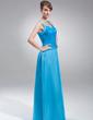 Çan/Prenses V Yaka Uzun Etekli Şarmöz Dantel Gelin Annesi Elbisesi Ile Boncuk Pullar (008006432)