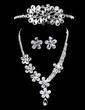 Flower Shaped Alloy/Rhinestones Women's Jewelry Sets (011028614)