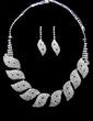 Leaves Shaped Alloy/Rhinestones Ladies' Jewelry Sets (011028874)