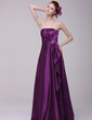 A-Line/Princess Strapless Floor-Length Charmeuse Evening Dress With Ruffle Beading (017016197)