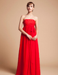 Empire Strapless Floor-Length Chiffon Chiffon Maternity Bridesmaid Dress With Beading Sequins Bow(s) (045004383)