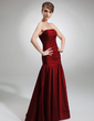 Trumpet/Mermaid Strapless Floor-Length Taffeta Bridesmaid Dress With Ruffle (007001839)
