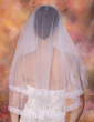 Two-tier Elbow Bridal Veils With Ribbon Edge (006003748)