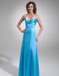 Empire Sweetheart Floor-Length Satin Bridesmaid Dress With Ruffle (007001921)