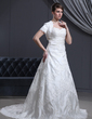 Short Sleeve Satin Wedding Wrap (013022586)