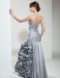 A-Line/Princess Sweetheart Floor-Length Taffeta Mother of the Bride Dress With Ruffle Flower(s) (008006495)