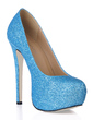 Women's Sparkling Glitter Stiletto Heel Closed Toe Platform Pumps (047016463)