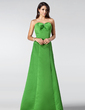 Empire Sweetheart Floor-Length Satin Bridesmaid Dress With Ruffle Beading (007001820)