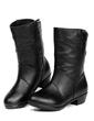 Gerçek Deri Alçak Topuk Ayak bileği Boots Ile Fermuar ayakkabı (088057504)