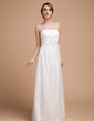 Empire Scoop Neck Floor-Length Tulle Wedding Dress With Ruffle (002014502)