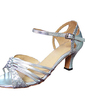Women's Sparkling Glitter Patent Leather Heels Sandals Latin Dance Shoes (053013230)