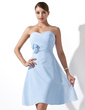 Empire Sweetheart Knee-Length Chiffon Bridesmaid Dress With Ruffle Flower(s) (007000932)