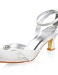 Saten Makara Topuk Kapalı Parmak Bağcıksız Düğün Ayakkabıları Ile Toka Suni Elmas (047005827)