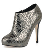 Stiletto Heel Platform Closed Toe Ankle Boots shoes (088017204)