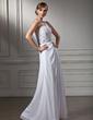 Çan/Prenses Tek-Omuzlu Uzun Etekli Chiffon Mezuniyet Elbisesi Ile Boncuklama Pullarda (018013820)