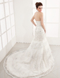 Trumpet/Mermaid Halter Chapel Train Tulle Wedding Dress With Lace Beading (002012139)
