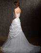 A-Line/Princess One-Shoulder Court Train Taffeta Organza Wedding Dress With Ruffle Beading Flower(s) Sequins (002011513)