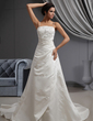 A-Line/Princess Cathedral Train Satin Wedding Dress With Embroidered Ruffle Beading (002022649)