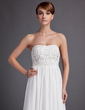 Empire Sweetheart Court Train Chiffon Wedding Dress With Ruffle Beading (002001170)