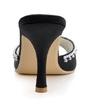 Women's Satin Stiletto Heel Pumps Sandals Slingbacks With Rhinestone (047039632)