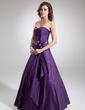 A-Line/Princess Sweetheart Floor-Length Taffeta Quinceanera Dress With Ruffle Beading (021020577)