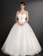 Ball-Gown Sweetheart Floor-Length Tulle Wedding Dress With Lace Beading Sequins (002015490)