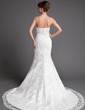 Trumpet/Mermaid Sweetheart Chapel Train Lace Wedding Dress (002004747)