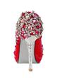 Women's Satin Cone Heel Closed Toe Platform Pumps With Rhinestone Crystal Heel (047033921)