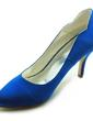 Women's Satin Stiletto Heel Closed Toe Pumps (047018172)