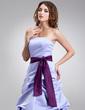 Çan/Prenses Askısız Uzun Etekli Satin Nedime Elbisesi Ile Büzgü Kuşaklar (007001855)