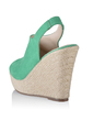 Leatherette Wedge Heel Sandals Peep Toe Slingbacks shoes (087033695)