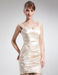 Sheath/Column Sweetheart Short/Mini Charmeuse Mother of the Bride Dress With Ruffle (008006507)