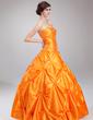 Balo Elbisesi Kalp Kesimli Uzun Etekli Tafta Quinceanera (15 Yaş) Elbisesi Ile Büzgü Boncuk (021002891)