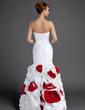 Denizkızı Kalp Kesimli Uzun Etekli Taffeta Mezuniyet Elbisesi Ile Büzgü Boncuklama Çiçek(ler) (018015703)