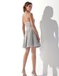 Linia A/Księżniczka Kochanie Krótka/Mini Chiffon Sequined Sukienka na Zjazd Absolwentów Z Perełki (022010092)