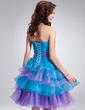 Linia A/Księżniczka Kochanie Do Kolan Organza Sukienka na Zjazd Absolwentów (022011014)