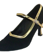 Women's Leatherette Nubuck Heels Pumps Modern Ballroom With Buckle Dance Shoes (053013214)