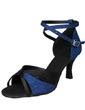 Kadın Satin Köpüklü Glitter Topuk Sandalet Latin Ile Ayakkabı Askısı Dans Ayakkabıları (053056398)