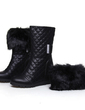 Leatherette Wedge Heel Ankle Boots With Fur shoes (088057246)